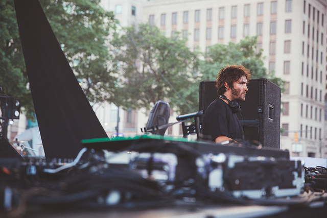 Lee Foss on the Thump Stage (Nick Kassab | Detroit Music Magazine)