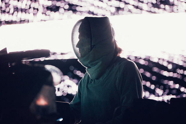 Squarepusher on the Red Bull Music Academy Stage (Nick Kassab | Detroit Music Magazine)